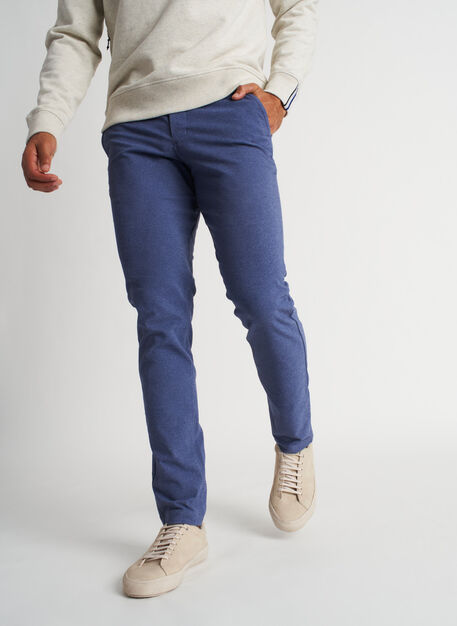 Going Places Pants, Heather Dark Indigo | Kit and Ace
