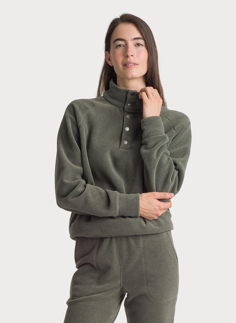 Chillout Fleece Pullover, FERN | Kit and Ace