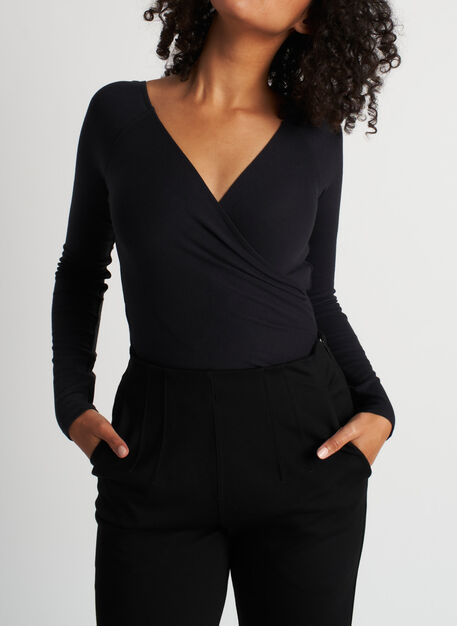 Kit Crossover Bodysuit, Black | Kit and Ace
