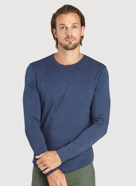 The B.F.T. Long Sleeve Crew, HTHR DK Navy | Kit and Ace