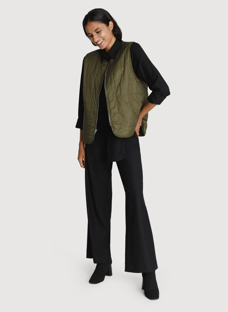 Better Together Reversible Vest, ARMY/CMO RFLTV/ARMY   Kit and Ace