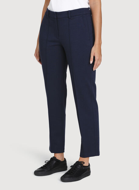 Coastline Trousers, Heather Dark Navy | Kit and Ace