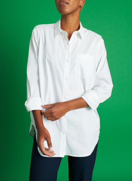 Keep It Cool Boyfriend Blouse, Bright White | Kit and Ace