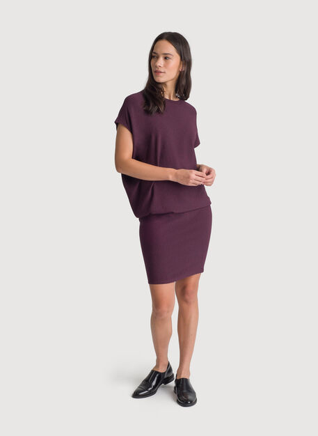 Brushed Wave Dress, HTHR Mulled Wine | Kit and Ace