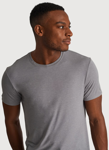 Ace Tech Jersey Crew Tee Standard Fit, Heather Light Grey | Kit and Ace