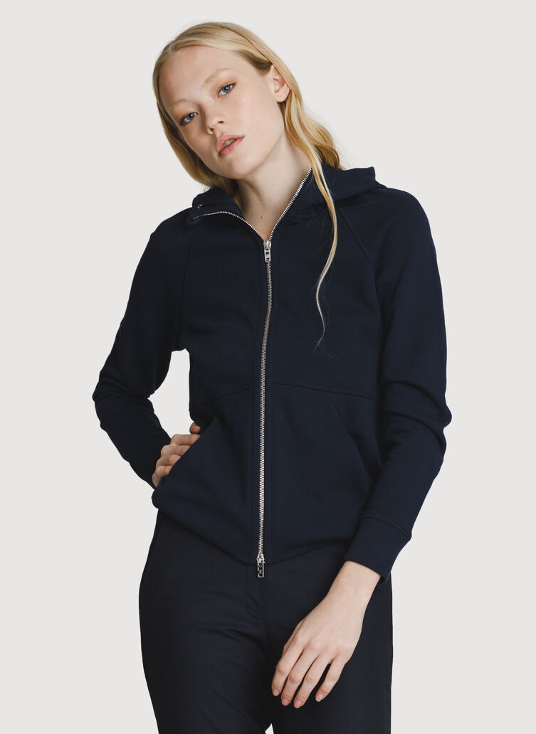 Terry Zip-Up Hoodie, DK Navy | Kit and Ace
