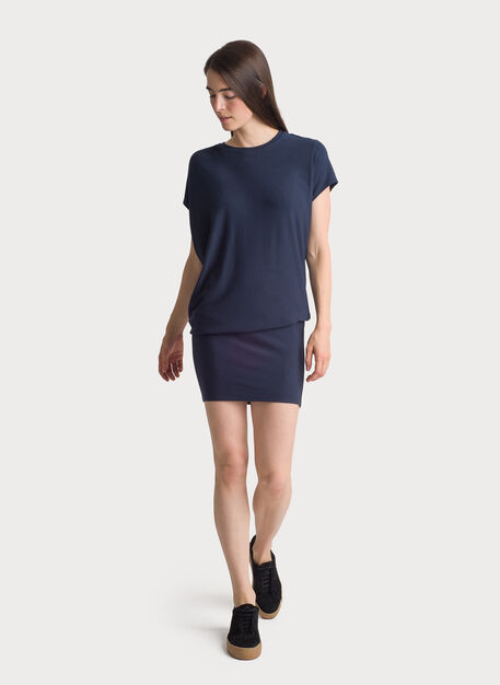 Brushed Wave Dress, Dark Navy | Kit and Ace