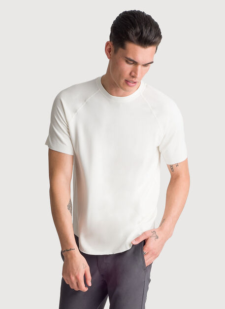 Edge Brushed Short Sleeve Crew, Bone White | Kit and Ace