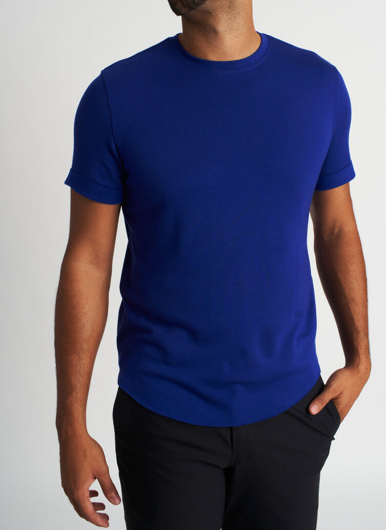 Brushed Crewneck Tee, KITS Blue | Kit and Ace