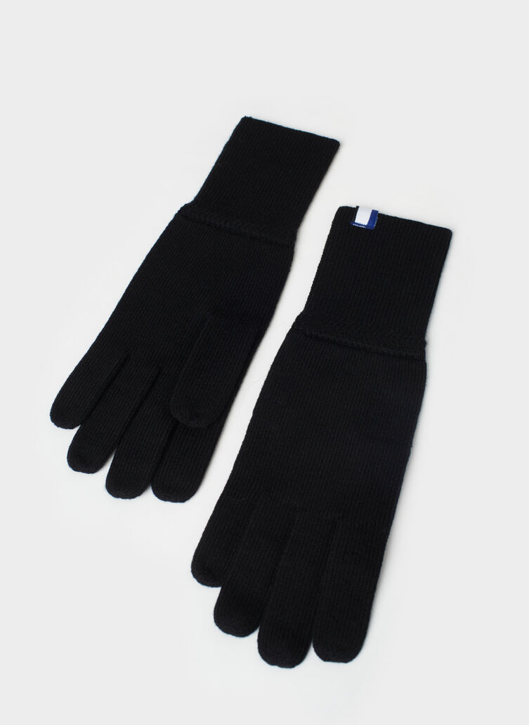 Cozy Merino Gloves, Black | Kit and Ace