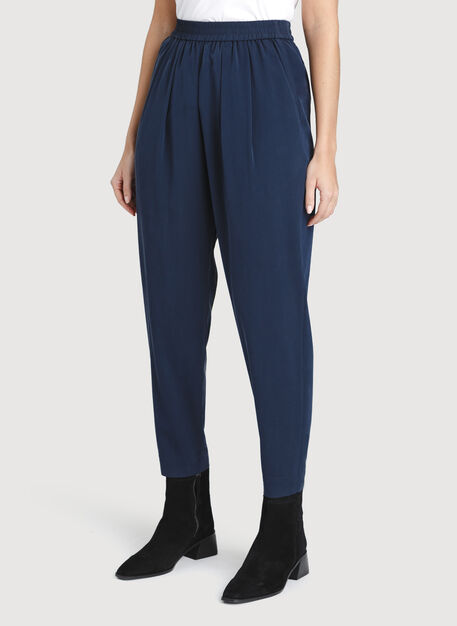 City Silk Pants, Dark Navy | Kit and Ace