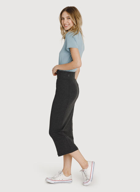 Seaside Long and Lean Pencil Skirt, HTHR Charcoal | Kit and Ace