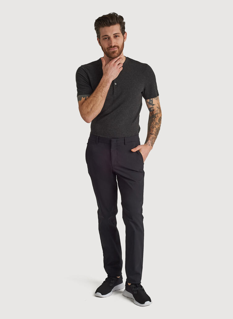 Navigator Commute Pant Slim Fit, BLACK | Kit and Ace