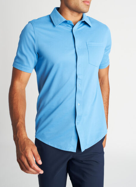 City Tech Classic Short Sleeve Shirt, Niagara | Kit and Ace
