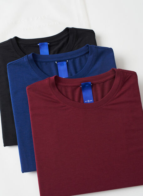 Ace Crew 3 Pack, Black/Deep Blue/Plum | Kit and Ace