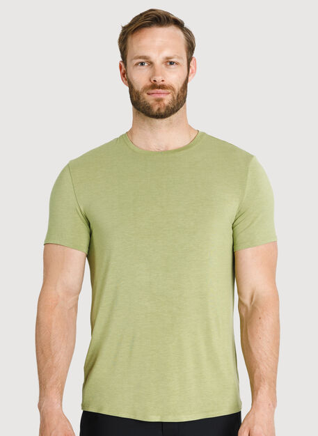 Ace Tech Jersey Crew Tee Standard Fit, HTHR Sweet Grass | Kit and Ace