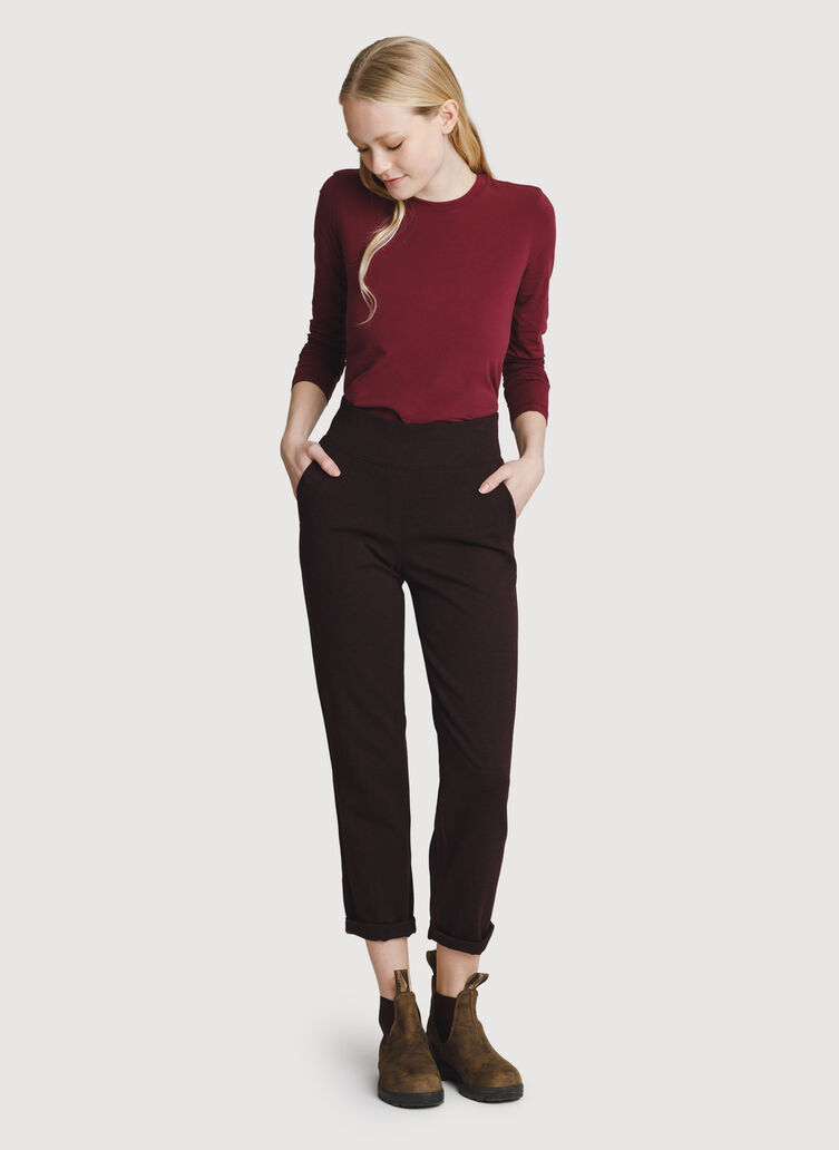 Mulberry Pants, Heather Plum | Kit and Ace