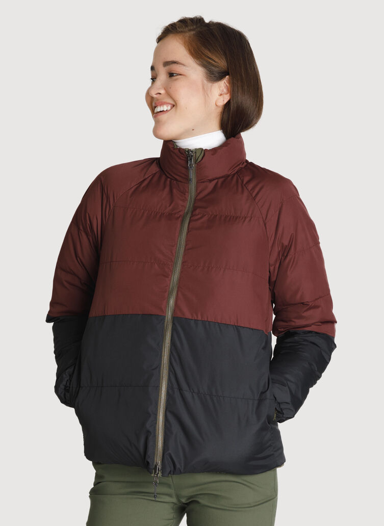 Kit Reversible Jacket *Midweight, FIELD/BORDEAUX/KNA BLACK | Kit and Ace