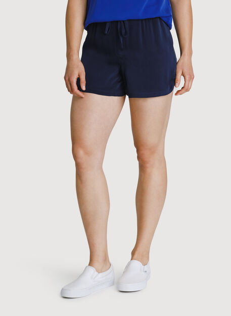 Bike to Office Silk Shorts, Dark Navy | Kit and Ace