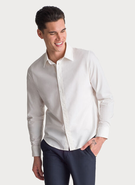 Blueprint Long Sleeve Button Up, White | Kit and Ace