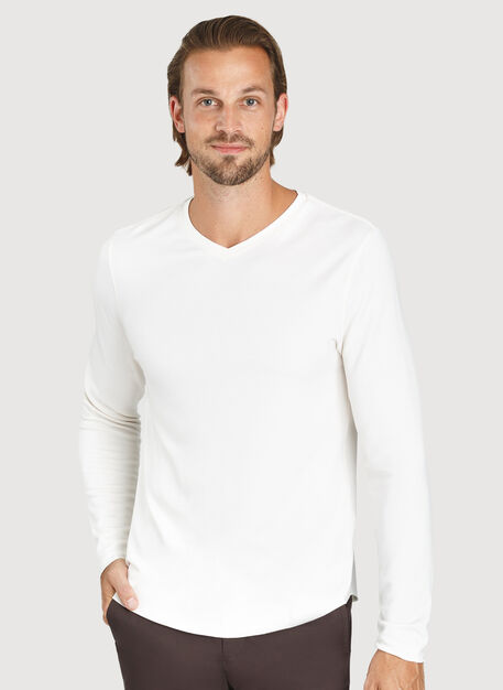 The B.F.T. Long Sleeve V-Neck, Bone White | Kit and Ace