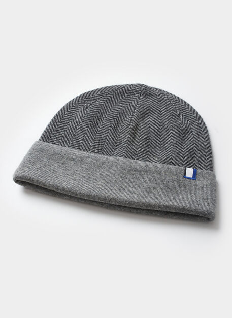 Reversible Merino Toque, HTHR CHARCOAL/HTHR GREY | Kit and Ace