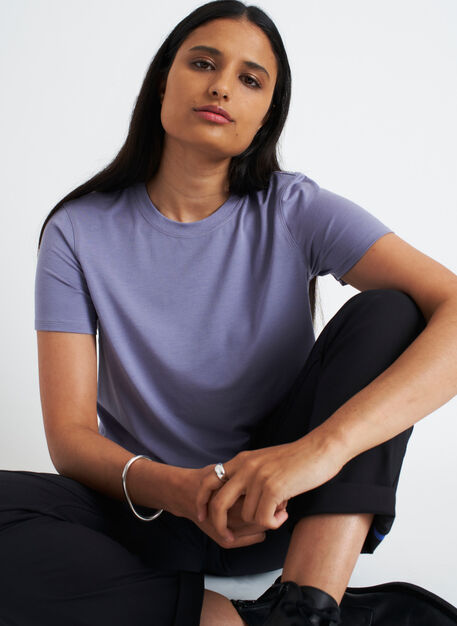 At Ease Tee, Lavender Grey | Kit and Ace