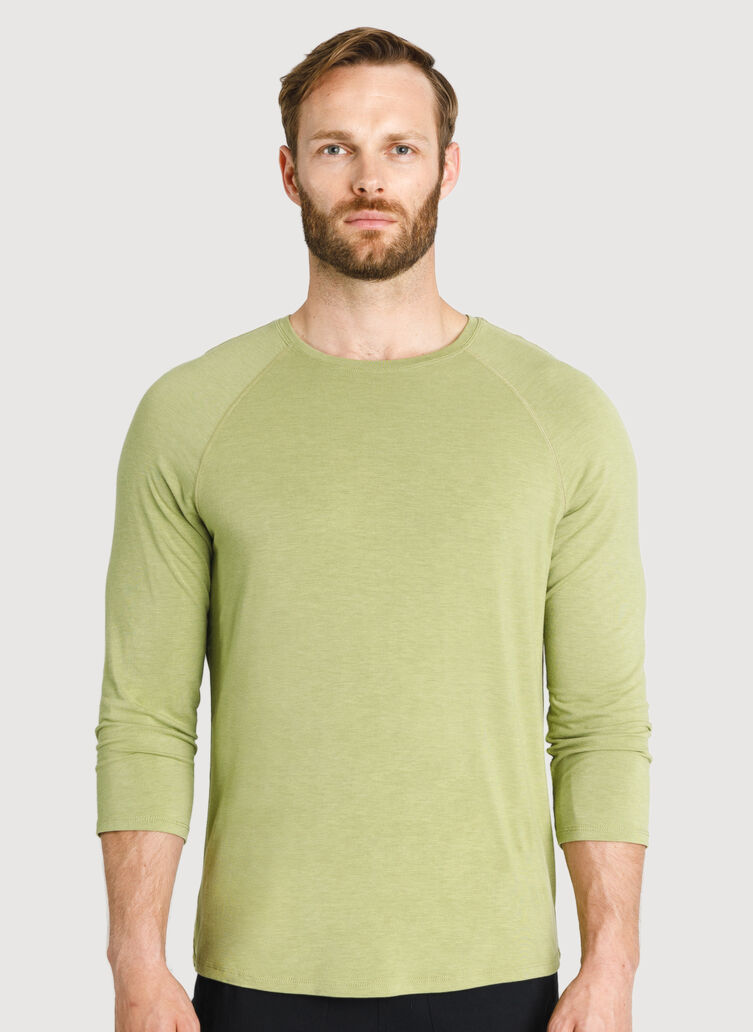 Ace Tech Jersey Baseball Tee, HTHR Sweet Grass | Kit and Ace