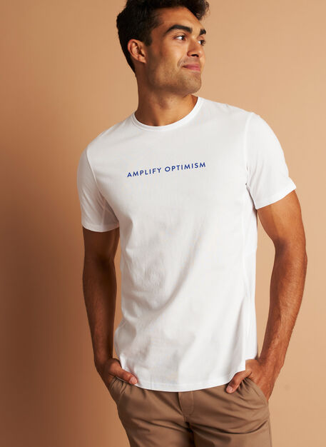 Amplify Optimism™ Tee, Bright White | Kit and Ace