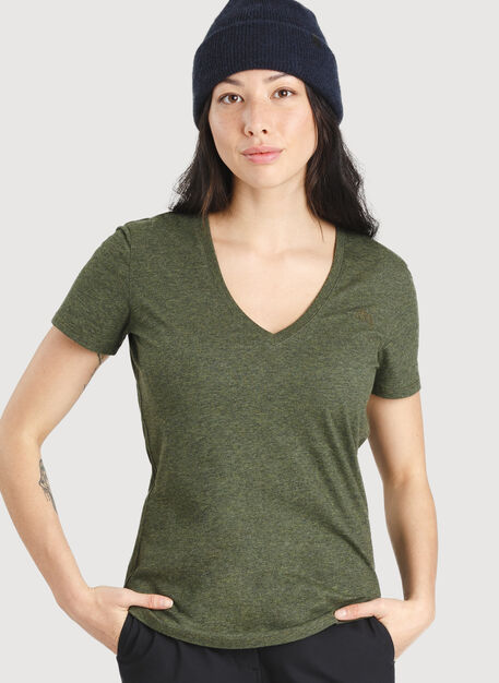 Movement V-Neck Tee, Heather Deep Forest | Kit and Ace