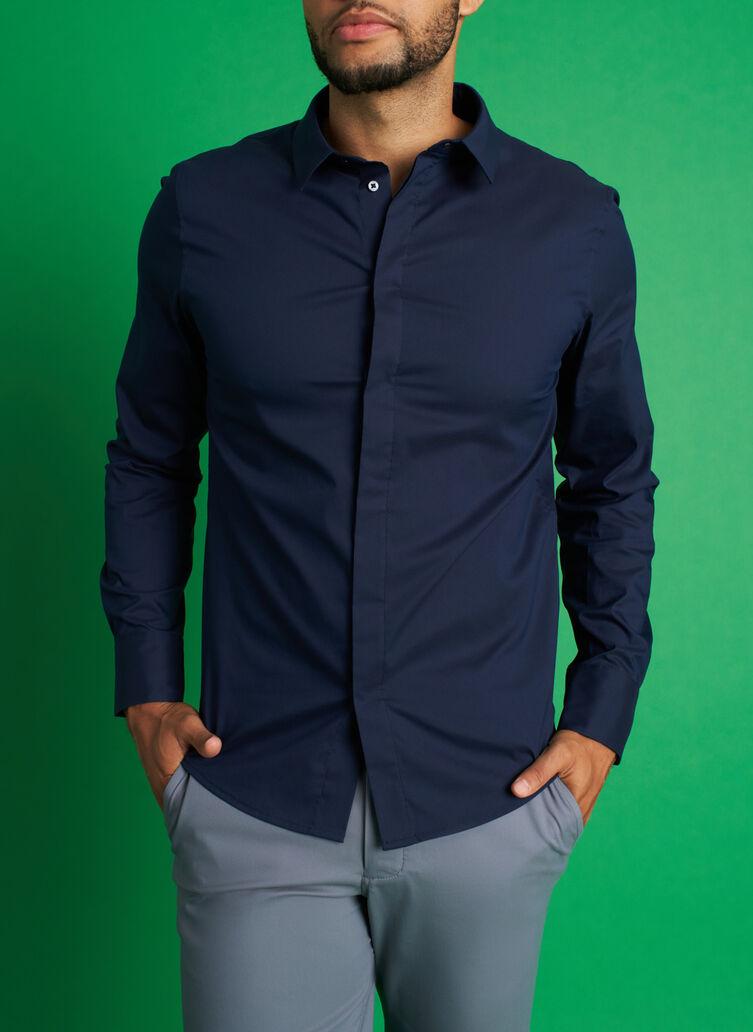 Stay Cool Shirt, Dark Navy | Kit and Ace