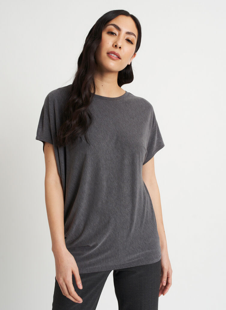 Wave Tee, Heather Charcoal | Kit and Ace