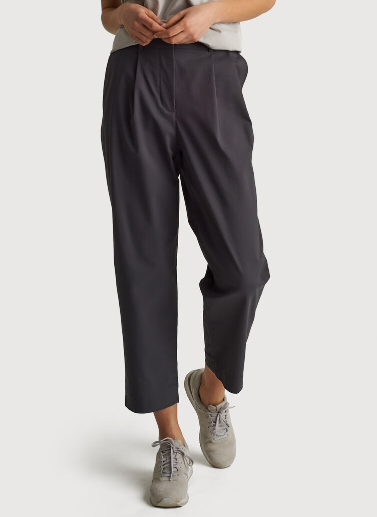 Navigator Ride Pleated Pants, Charcoal | Kit and Ace