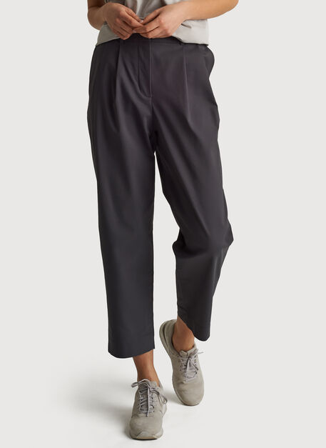 Navigator Ride Pleated Pant, Charcoal | Kit and Ace