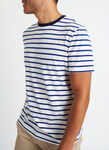 Ace Pima Crewneck Tee, White Multi Stripe | Kit and Ace