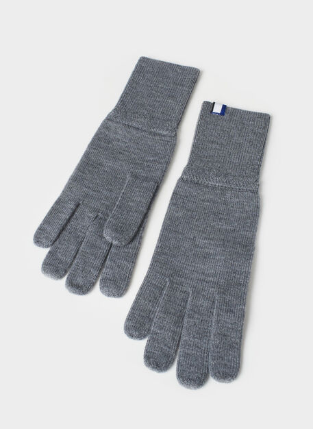 Cozy Merino Gloves, Heather Grey | Kit and Ace