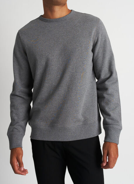 West Coast Crewneck Pullover, Heather Grey | Kit and Ace