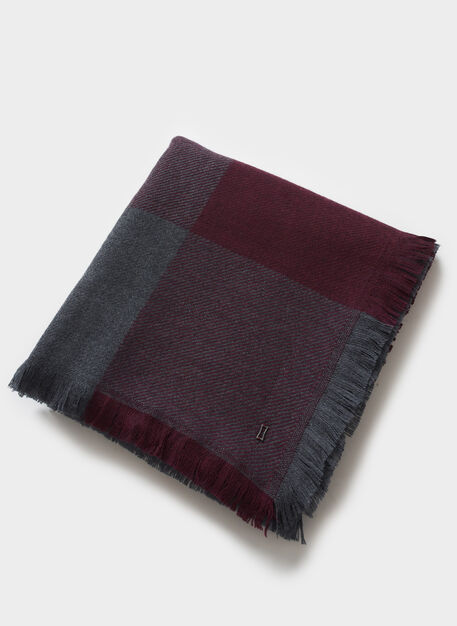 Blanket Scarf, HTHR PLUM/HTHR CHARCOAL | Kit and Ace