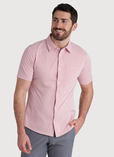 City Tech Classic Short Sleeve, Dusty Rose Chambray | Kit and Ace