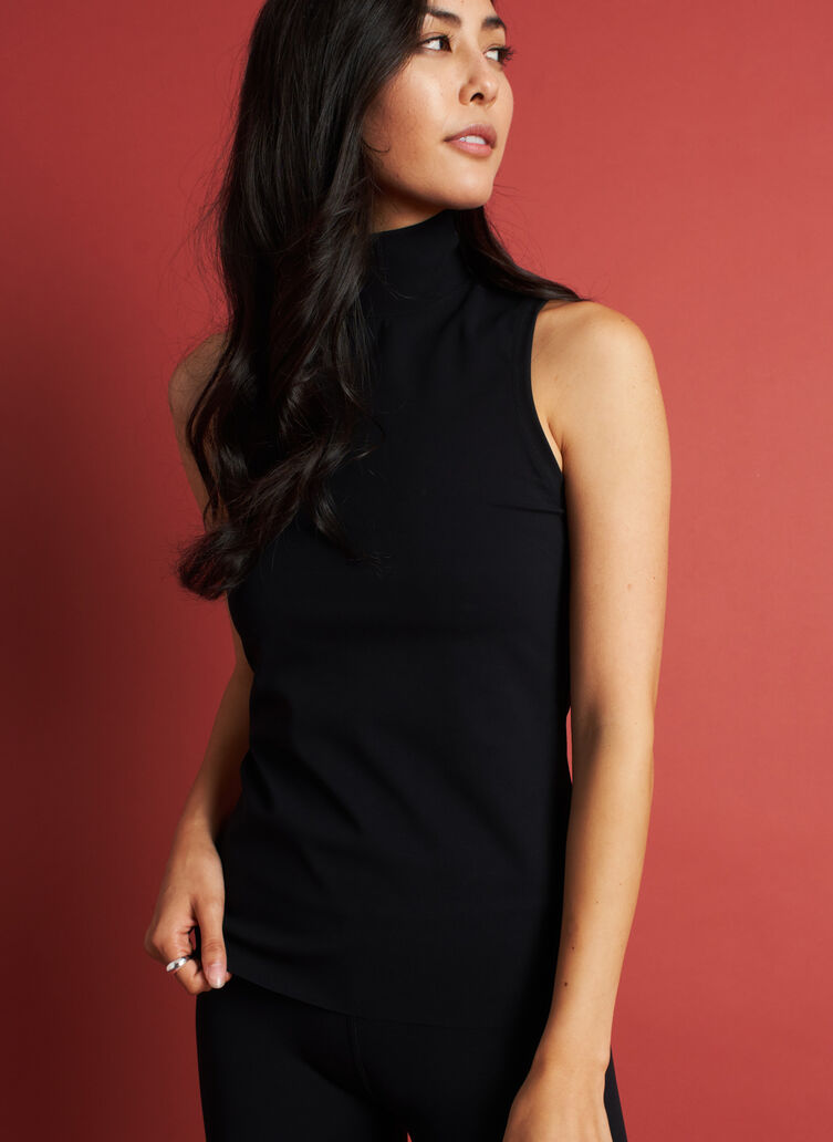 The Base Sleeveless Turtleneck, Black | Kit and Ace