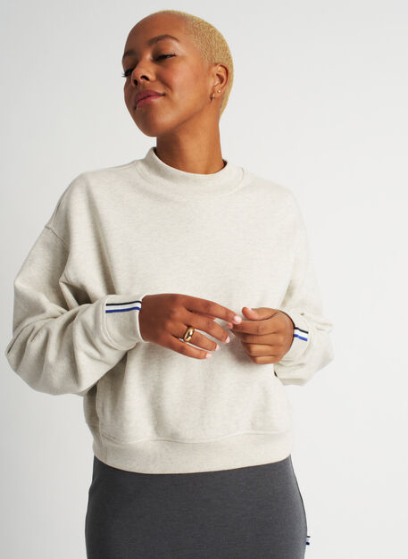 Pacific Coast Pullover, Heather Birch | Kit and Ace