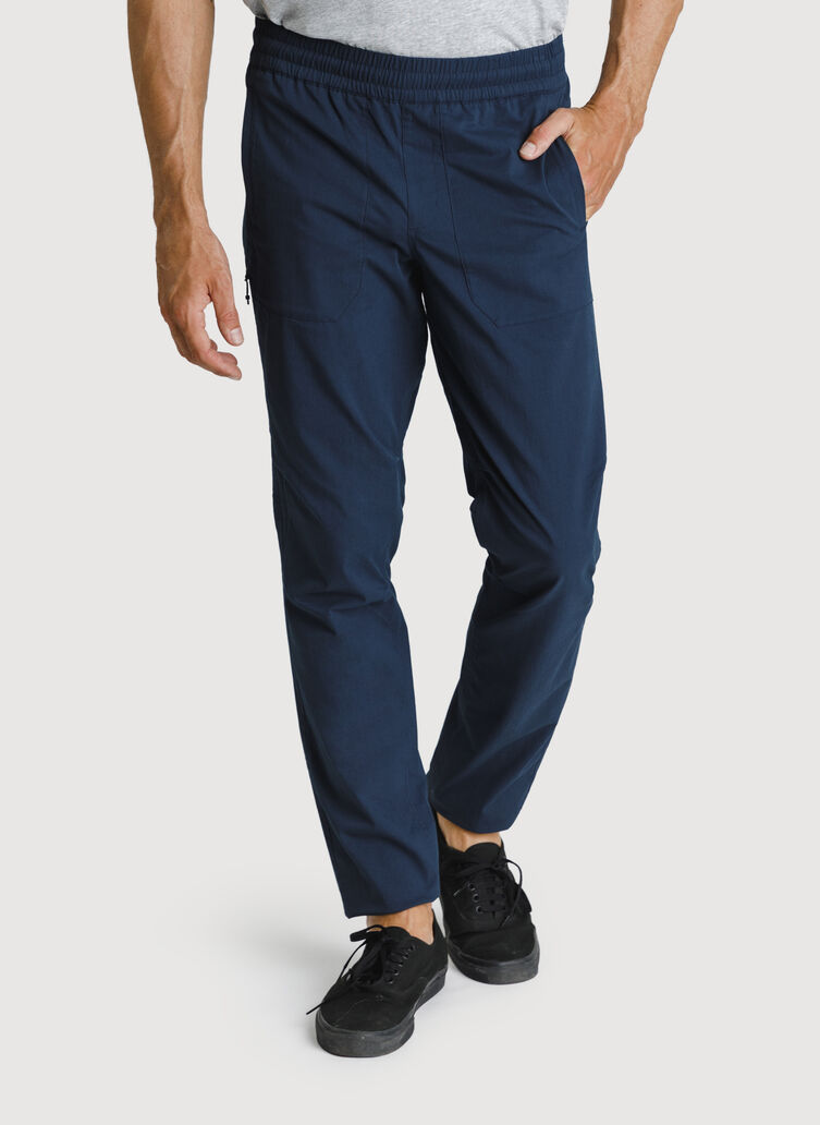 Stretch Cotton Pull-On Pant, Outer Space   Kit and Ace