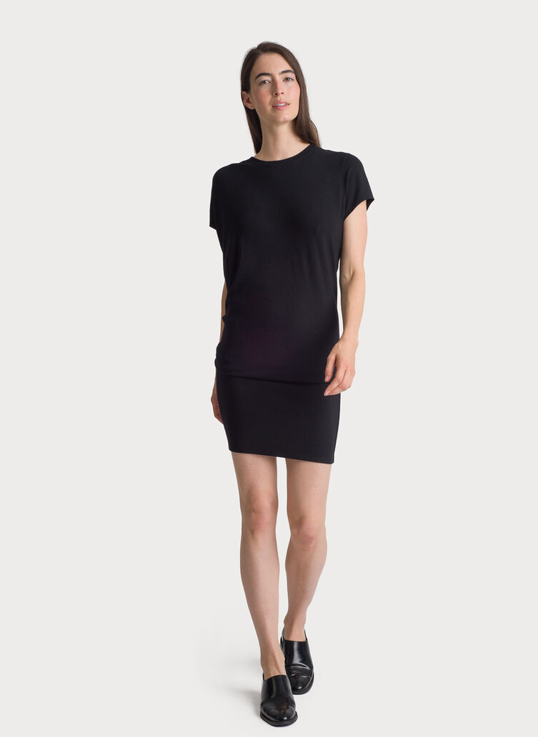 Brushed Wave Dress, BLACK | Kit and Ace