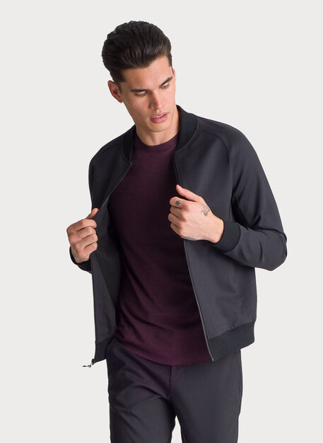 Stretch Bomber Jacket, BLACK | Kit and Ace