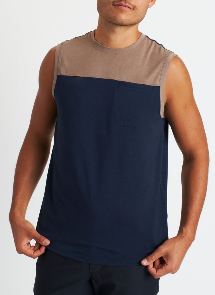 Ace Pocket Tank, Dark Navy/Bark | Kit and Ace