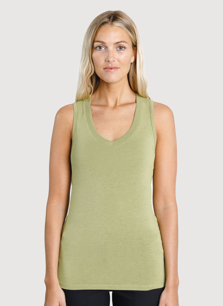 Kit Tech Jersey Tank, HTHR Sweet Grass | Kit and Ace