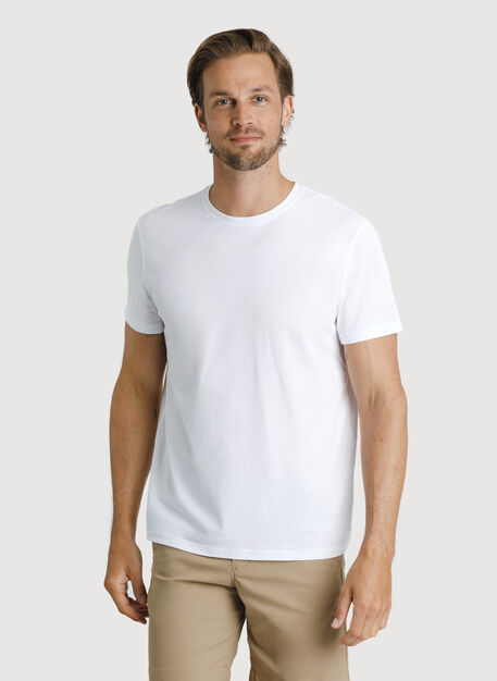 Ace Pima Crew Tee, Bright White | Kit and Ace