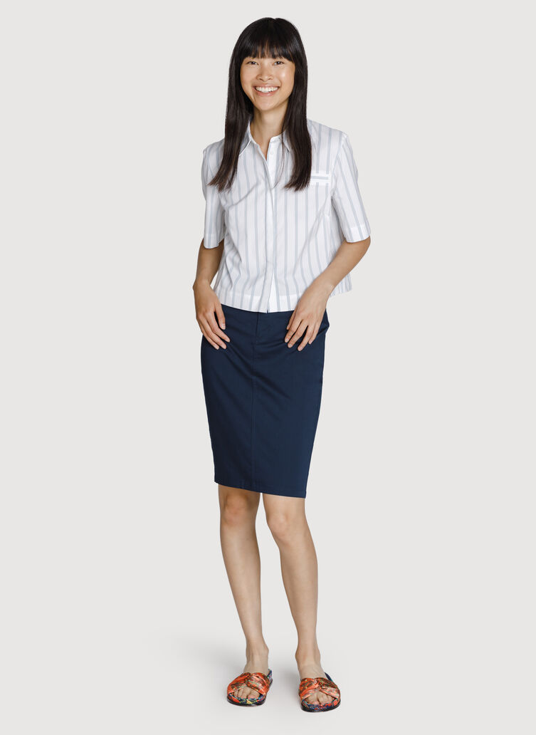 Mainstay Stretch Skirt, DK Navy | Kit and Ace