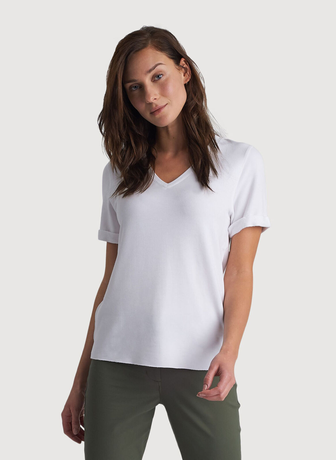 f8a7e0fc Kit Brushed V Tee   Womens T-Shirts and Long Sleeves  Kit and Ace ...