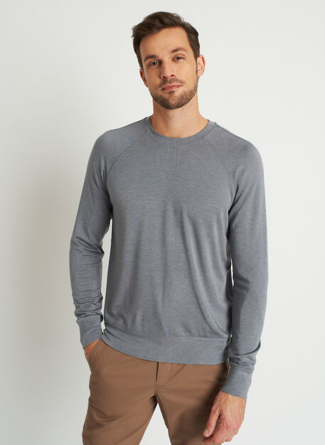 Chillin Brushed Pullover, Heather Shade | Kit and Ace